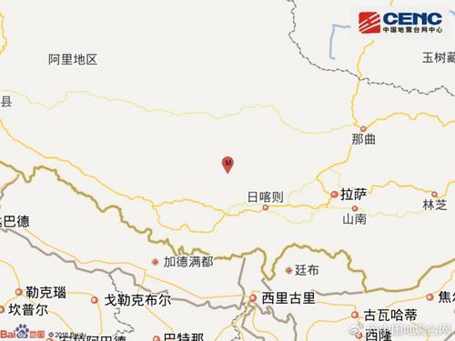 日喀则4.5级地震 日喀则地震最新消息