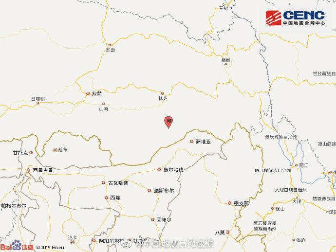 西藏林芝6.3级地震 西藏林芝市墨脱县发生6.3级地震 震感强烈